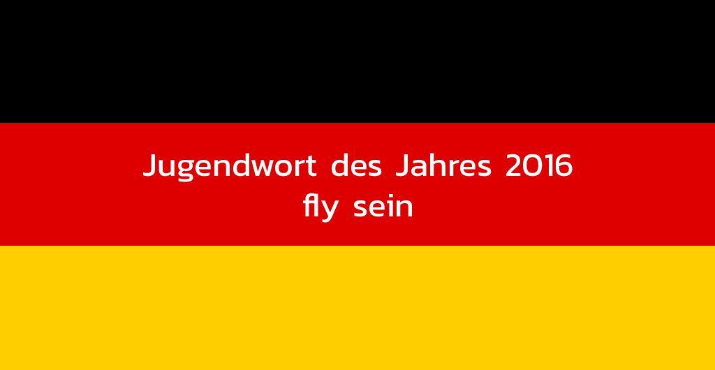 Fly sein, Jugendwort des jahres 2016, auf Deutschlandflagge
